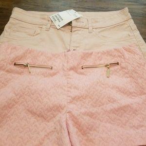 2 pink shorts